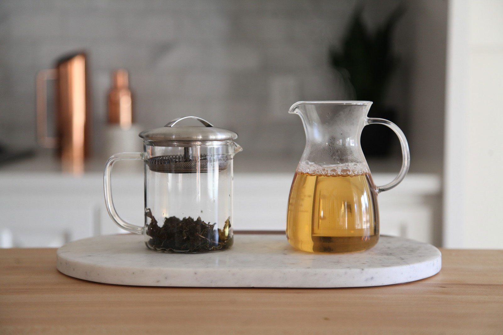 Aged Heart Oolong brewed tea