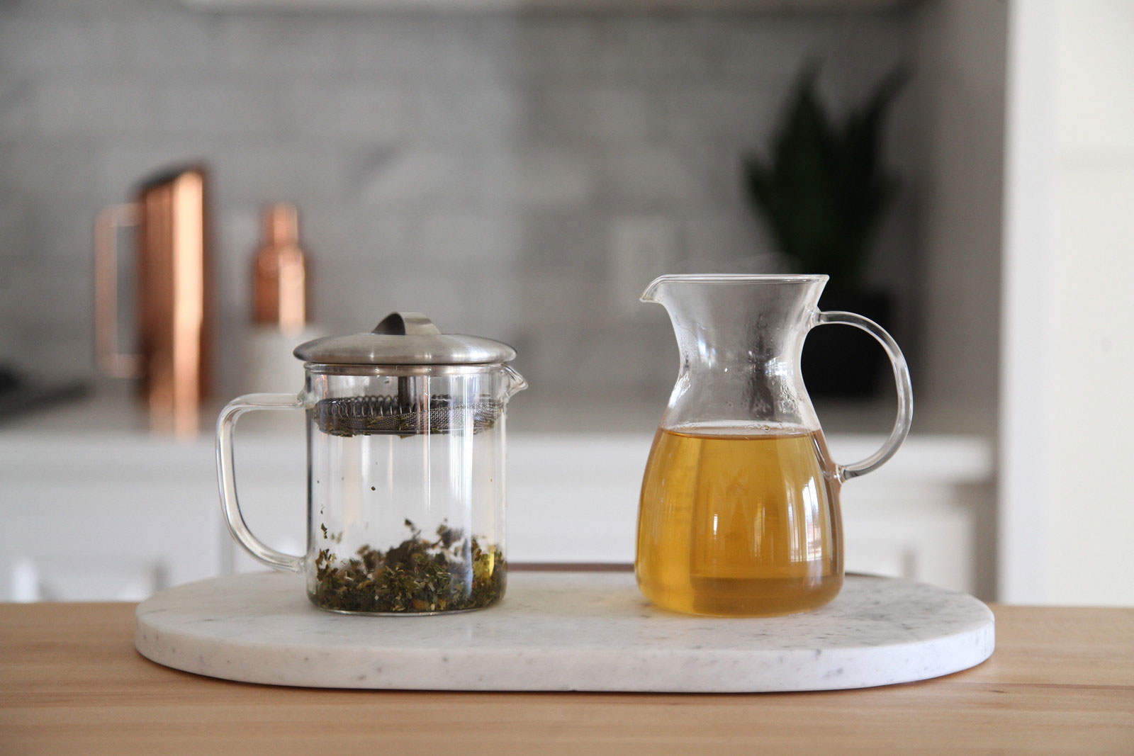 Ginger Mint Chamomile brewed tea