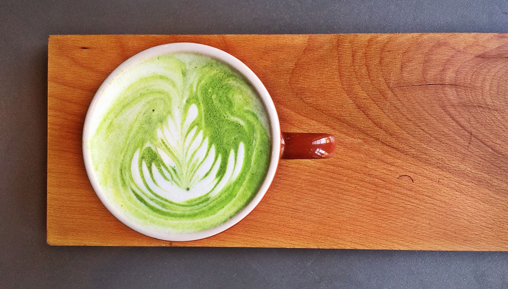 Matcha Latte at La Barba