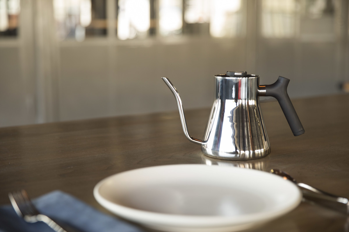 Chrome Stagg Tea Kettle